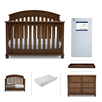 Baby Nursery Furniture Set | Simmons Kids 6 Piece - Aden Convertible Crib,  Dresser, - Amazon.com: Baby Nursery Furniture Set Simmons Kids 6 Piece - Aden