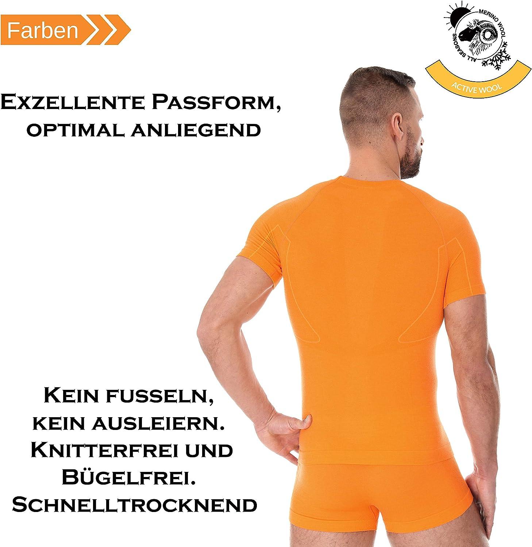 /ss11710/Active Lana Camiseta de Hombre Fitness Funci/ón Ropa Unterhemd Sport Merino Brubeck/