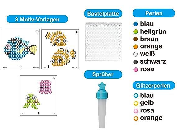 Aquabeads Findet Dory Nemo Figurenset 9 Farben 500 Perlen Bügelperlen 3 Motive Bügelbilder