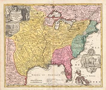 Amazon historical 1720 homann map of the mississippi valley historical 1720 homann map of the mississippi valley united states louisiana texas gumiabroncs Choice Image