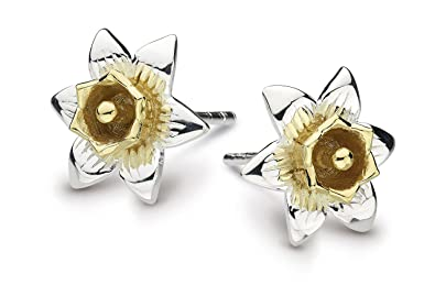 Heritage Sterling Silver and Gold Plate Carey Daffodil Stud Earrings 4230GD aUFyw