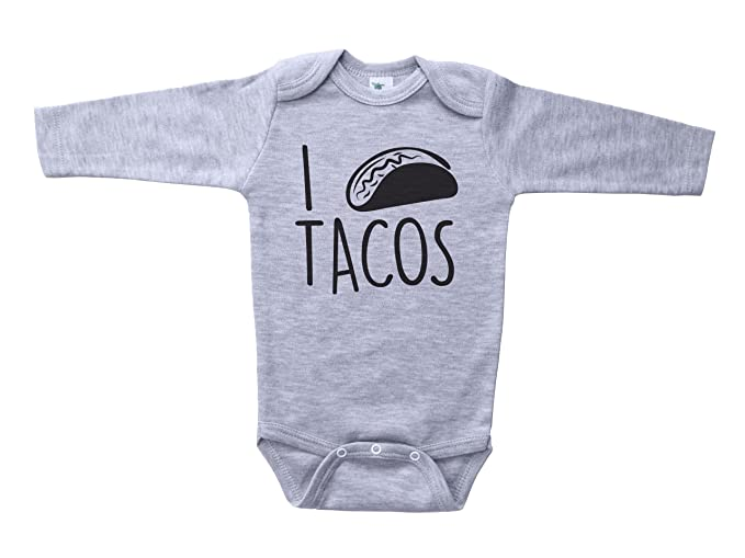 784d3a738 Baffle Taco Baby Onesie/I Heart Tacos/Unisex Infant & Toddler Bodysuit  (Newborn