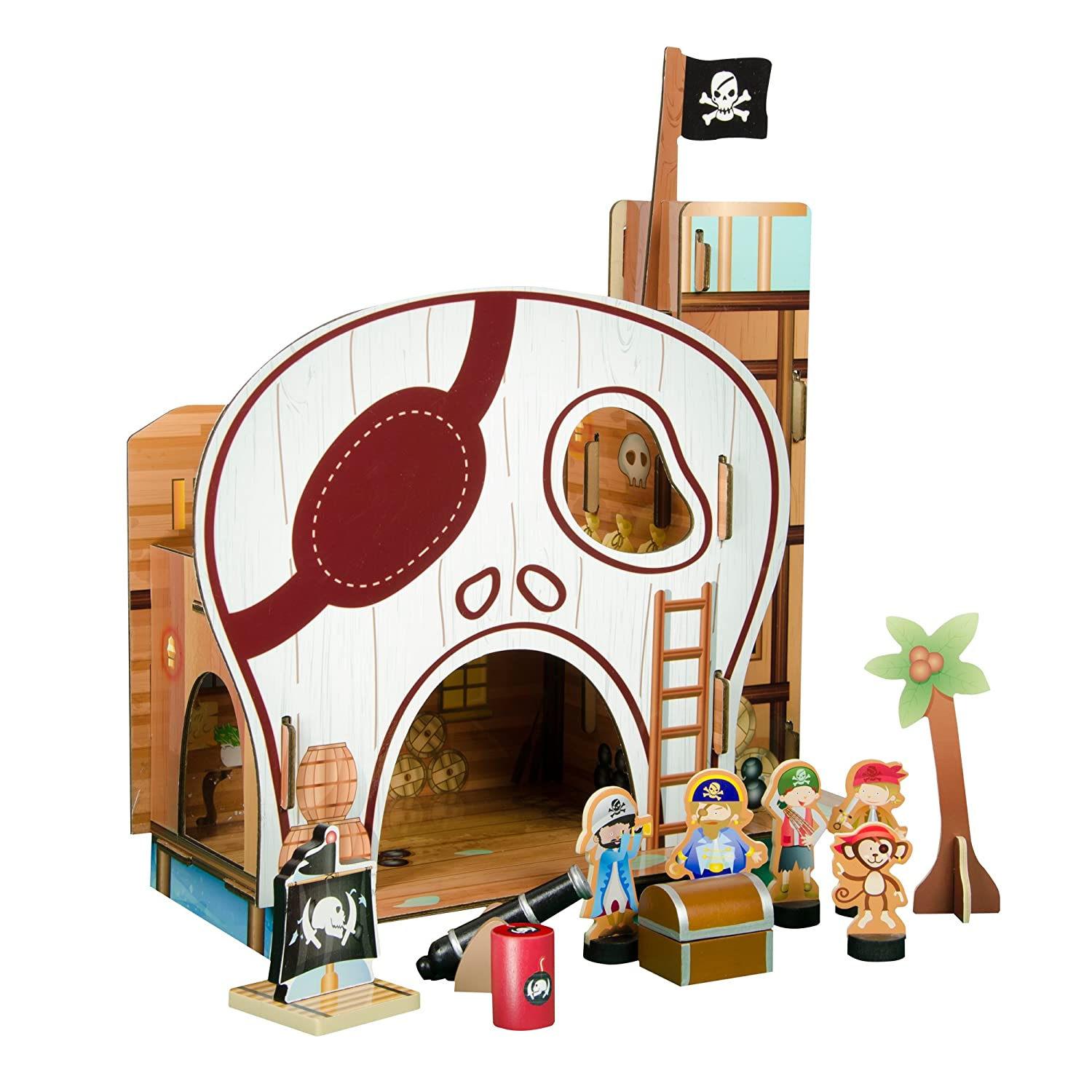 amazon com teamson kids pirate table top play set toys u0026 games