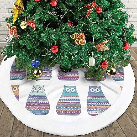 N/A Falda para árbol de Navidad, diseño de Gato, decoración de ...
