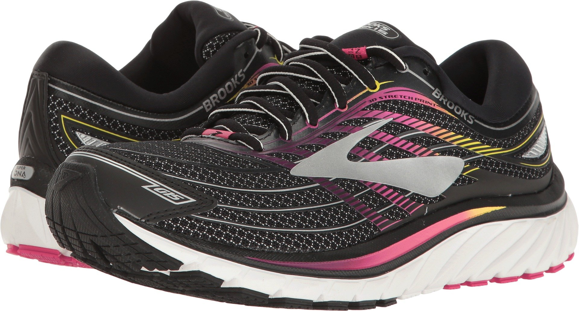 Brooks Women's Glycerin¿ 15 Black/Pink Peacock/Plum Caspia 5 B US