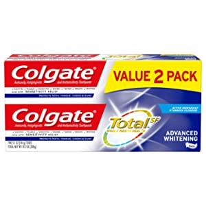Colgate Total Whitening Toothpaste, Advanced Whitening – 5.1 ounce (2 Pack)