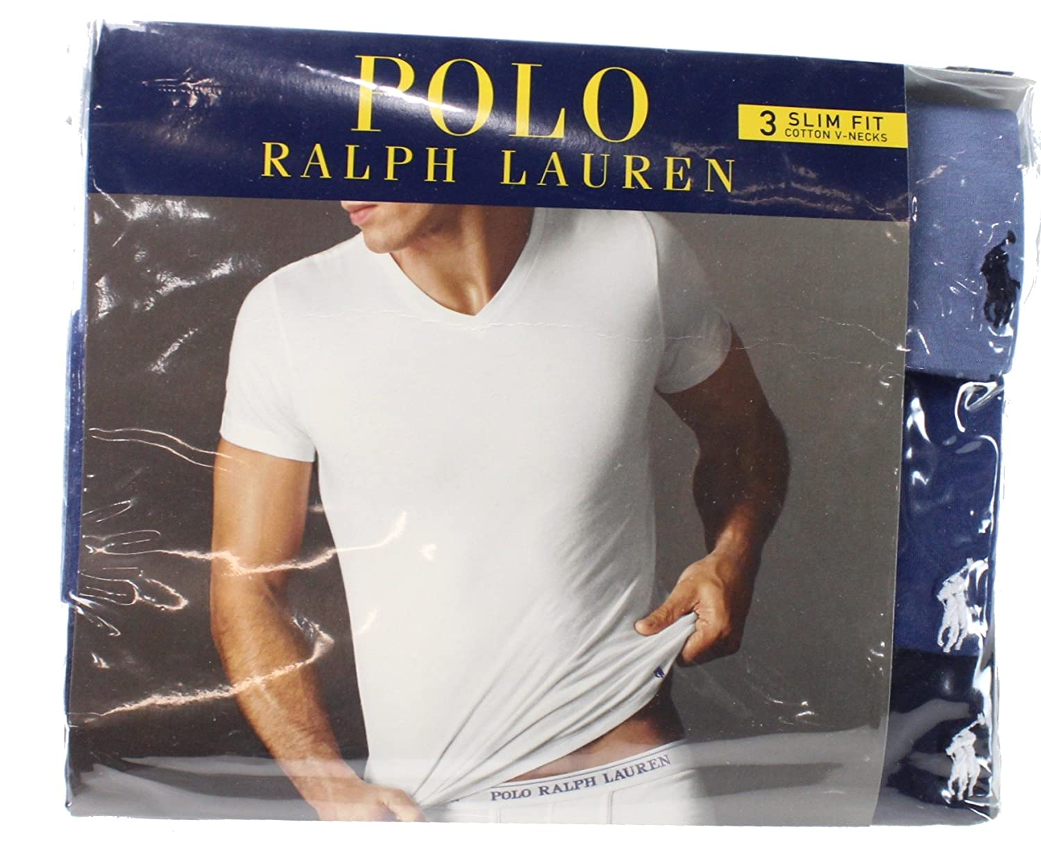 Polo Ralph Lauren Slim Fit V-Neck Undershirts 3-Pack LSVN
