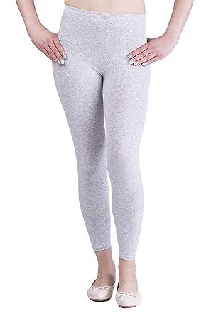 06ee9edcc8641 Sentelegri Women's Full Length Cotton Leggings Soft, Plus Sizes (8, Ashen)