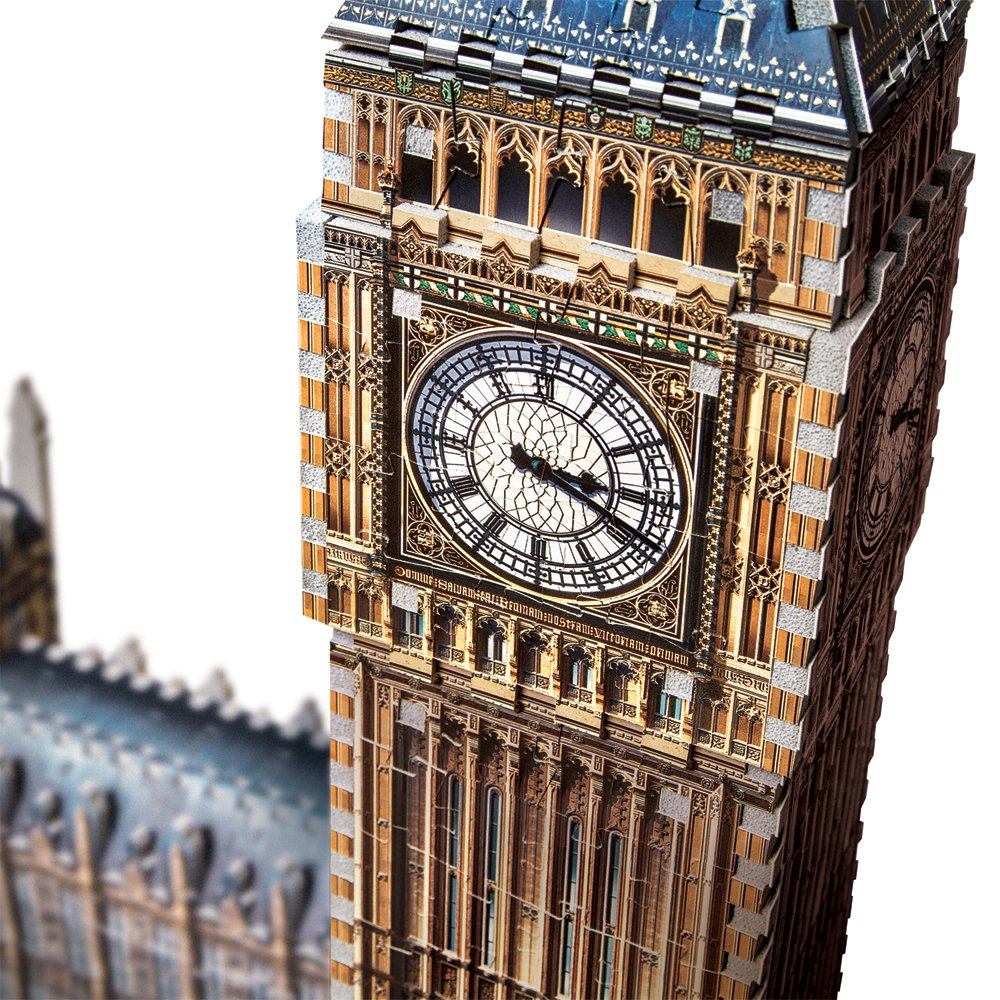 Wrebbit W3D-2002 3D W3D-2002 Wrebbit - Big Ben und House Of Parliament - Queen Elisabeth Tower, 3D-Puzzle 890d2f