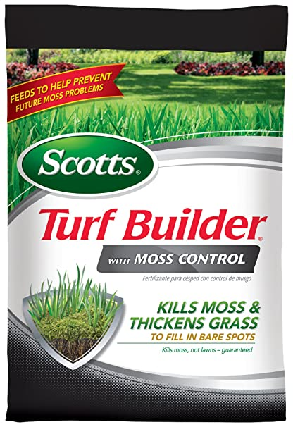 Scotts Turf Builder Lawn Food - Lawn Food with Moss Control Fertilizer, 10,000-Sq