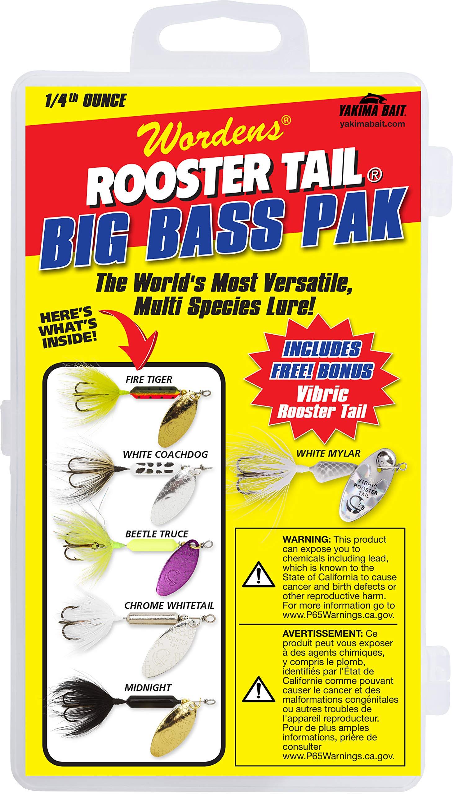 Yakima Bait Rooster Tail 1/4oz Box Kit-Big Bass Pak Mix by Yakima Bait