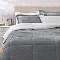 Deals on AmazonBasics Ultra-Soft Micromink Sherpa Comforter Bed Set 3-Piece