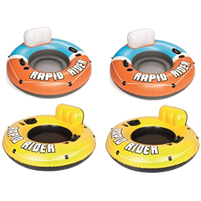 "Bestway Rapid Rider River Tube Float (2 Pack), 53"" Inflatable River Raft(2 Pack): Toys & Games"