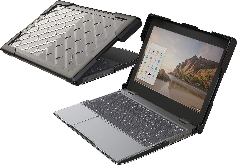Gumdrop BumpTech Case Designed for Lenovo 100e Chromebook (Gen 1 and Gen 2 Intel) Laptop for K-12 Students, Teachers, Kids - Black, Rugged, Shock Absorbing, Extreme Drop Protection