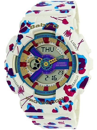 0df0cf842dcf5 Casio Ladies Baby-G Flower Leopard Analog-Digital Casual Quartz Watch  (Imported) BA-110FL-7A  Casio  Amazon.ca  Watches