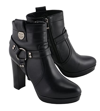 Milwaukee Performance Womens Harness Ankle Boot Black, 9