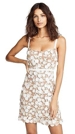 221f959b99cd Amazon.com: For Love & Lemons Women's Beatrice Mini Dress, White ...