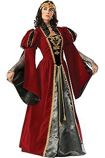 EU 34/36 Ladies Deluxe Anne Boleyn Tudor Queen Historical British Royalty Fancy Dress Costume Outfit UK 6-8