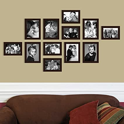 Buy Elegant Arts & Frames Classic Group of 12 Brown Colour Family ...