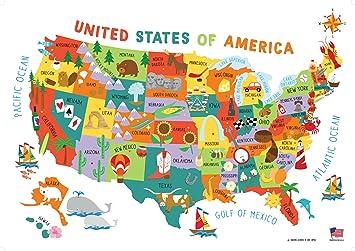 Us Map Mural.Amazon Com Swiftmaps 28x40 United States Usa Us Children S Wall Map
