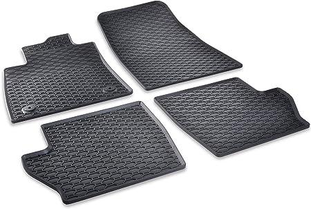 Dapa Prime Gummimatten Für Fiesta Mk8 St Line Gummi Fußmatten Komplettset Schwarz Perfekt Passend Mit Rand 1078794 Auto