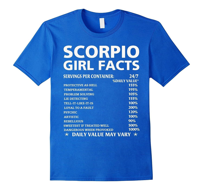 Scorpio Girl Facts Zodiac Sign Scorpio T-Shirt-ANZ