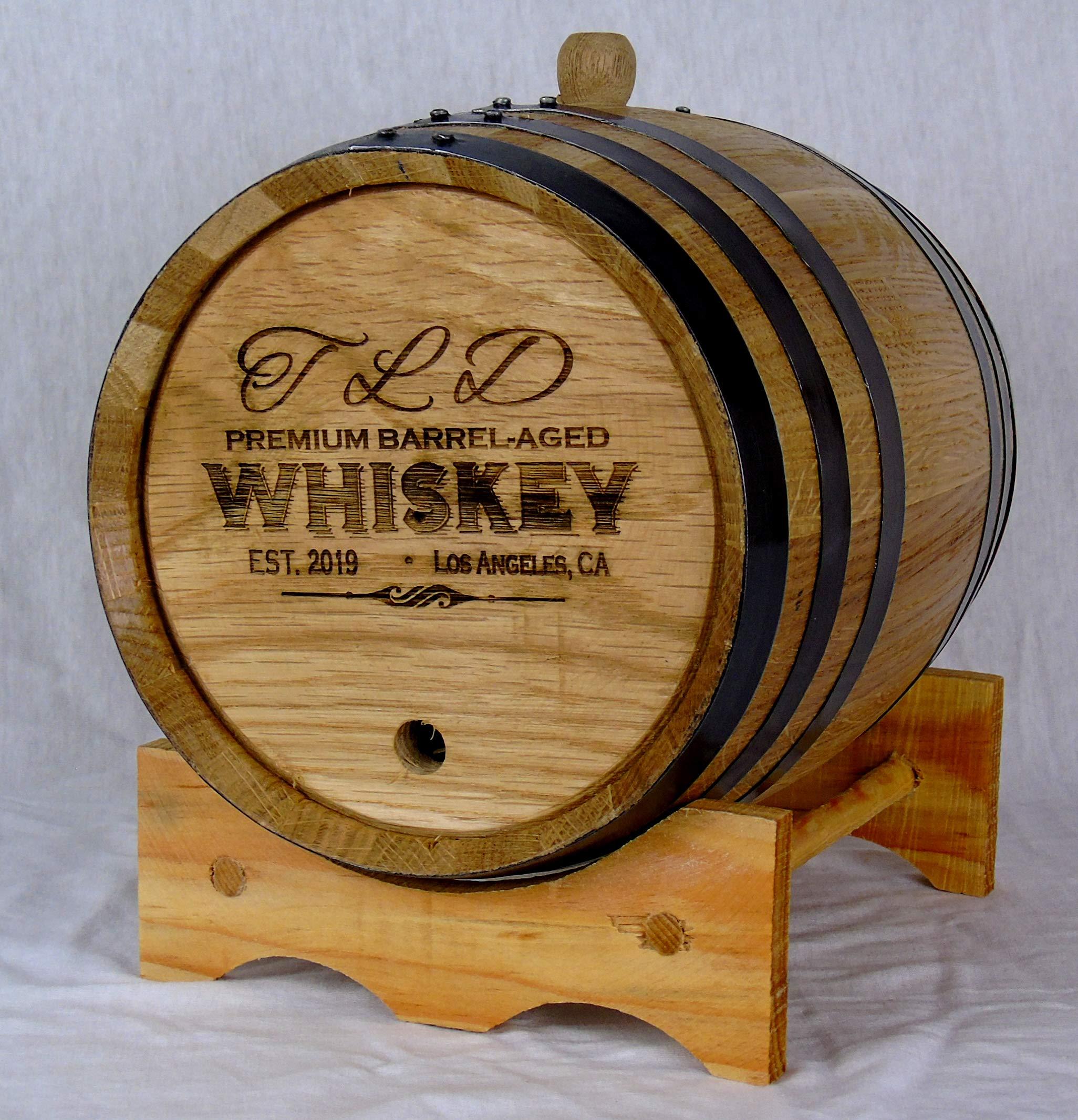 Personalized Engraved White American Oak Aging Barrels RHB155 (3 Liter)