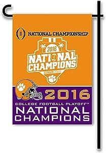 NCAA National Champions Clemson Tigers 2-Sided Garden Flag, Orange,