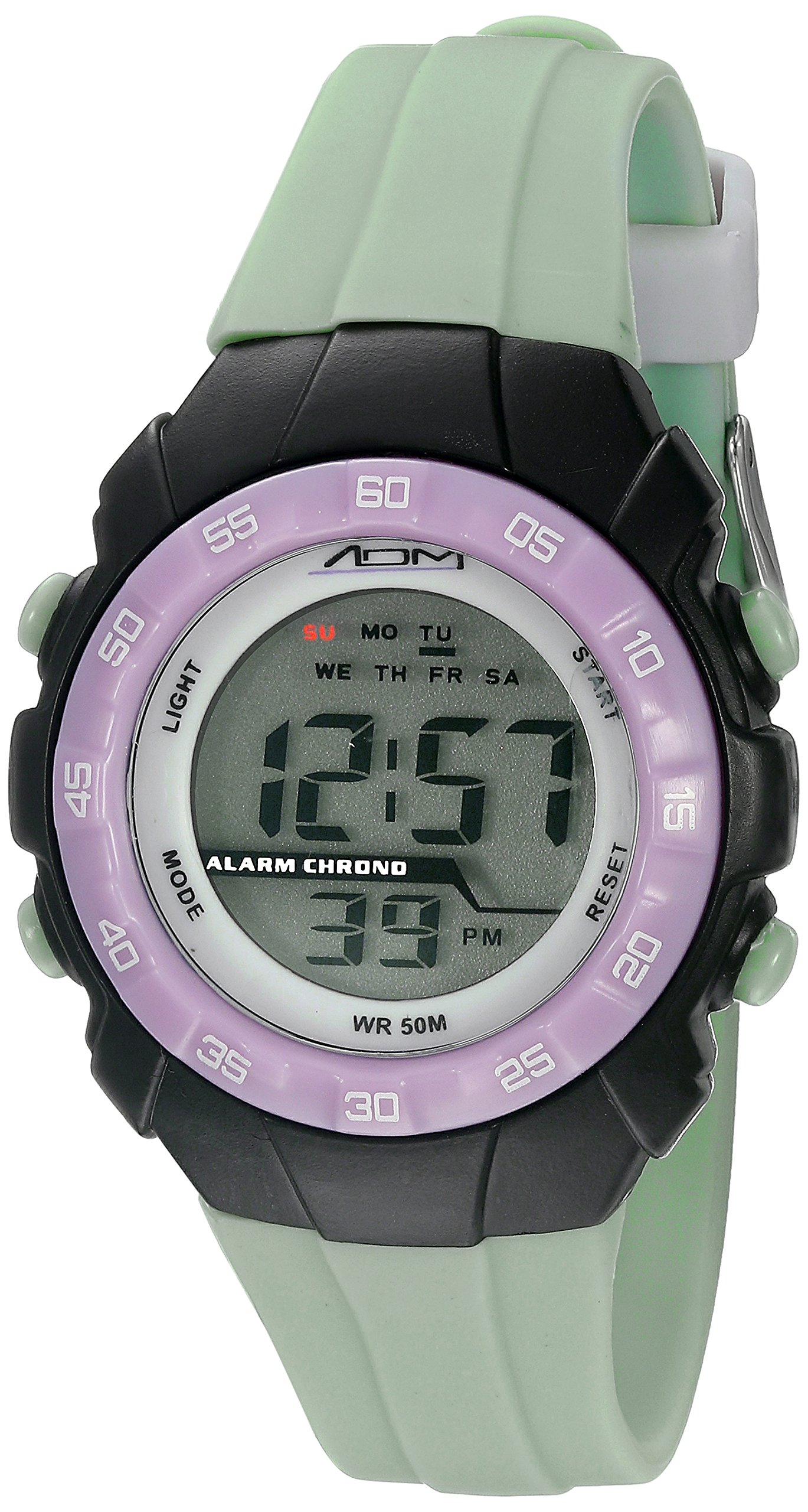 American Design Machine Jr. Kids' ADSG 5001 MNT Phoenix Digital Display Japanese Quartz Green Watch