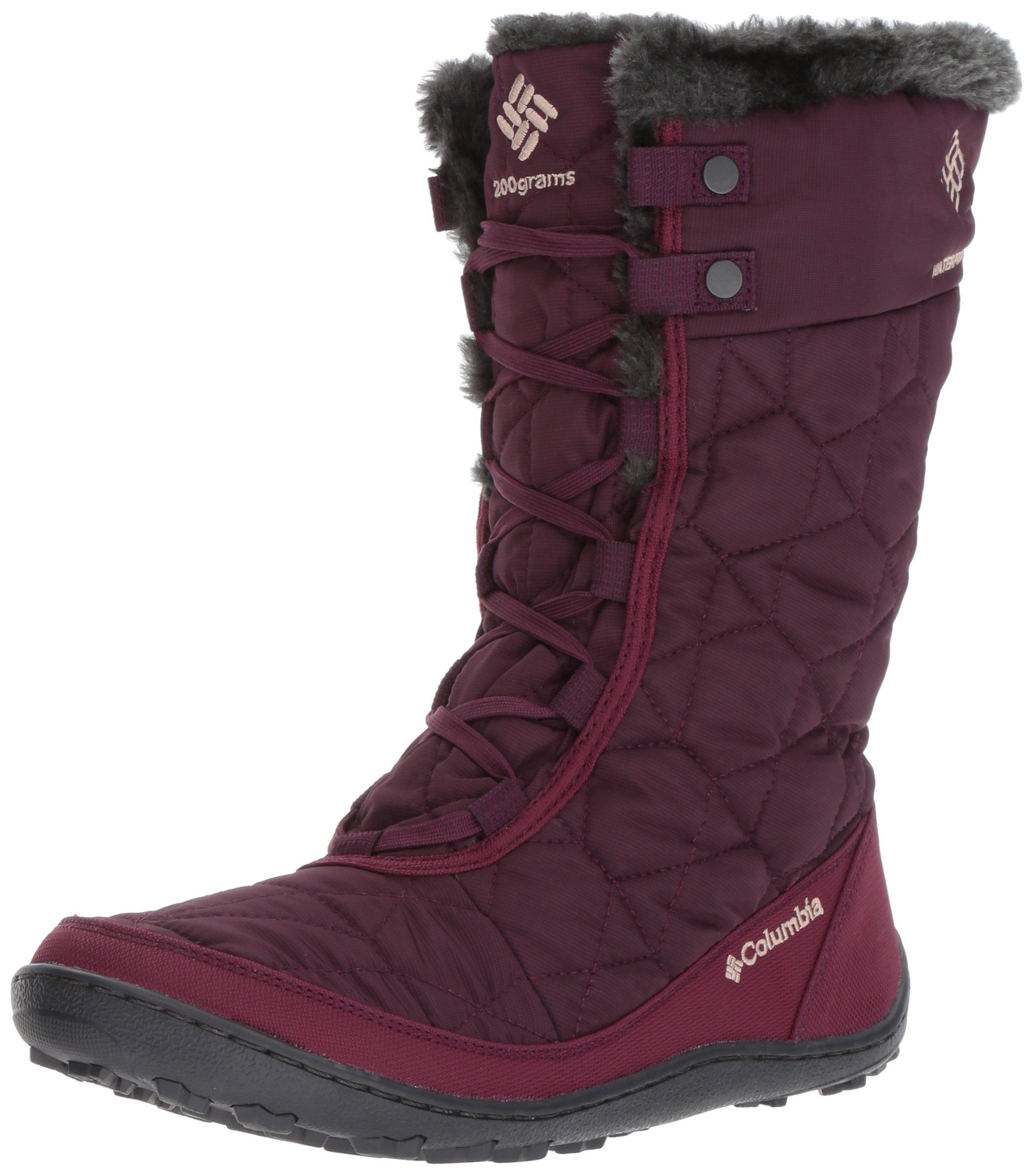 Columbia Women's Minx Mid II Omni-Heat Snow Boot, Purple Dahlia, Ancient Fossil, 9.5 B US