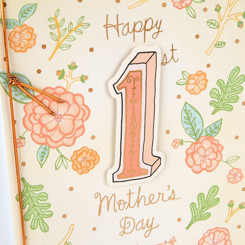 Amazon Hallmark 1st Mothers Day Greeting Card Joy And Love
