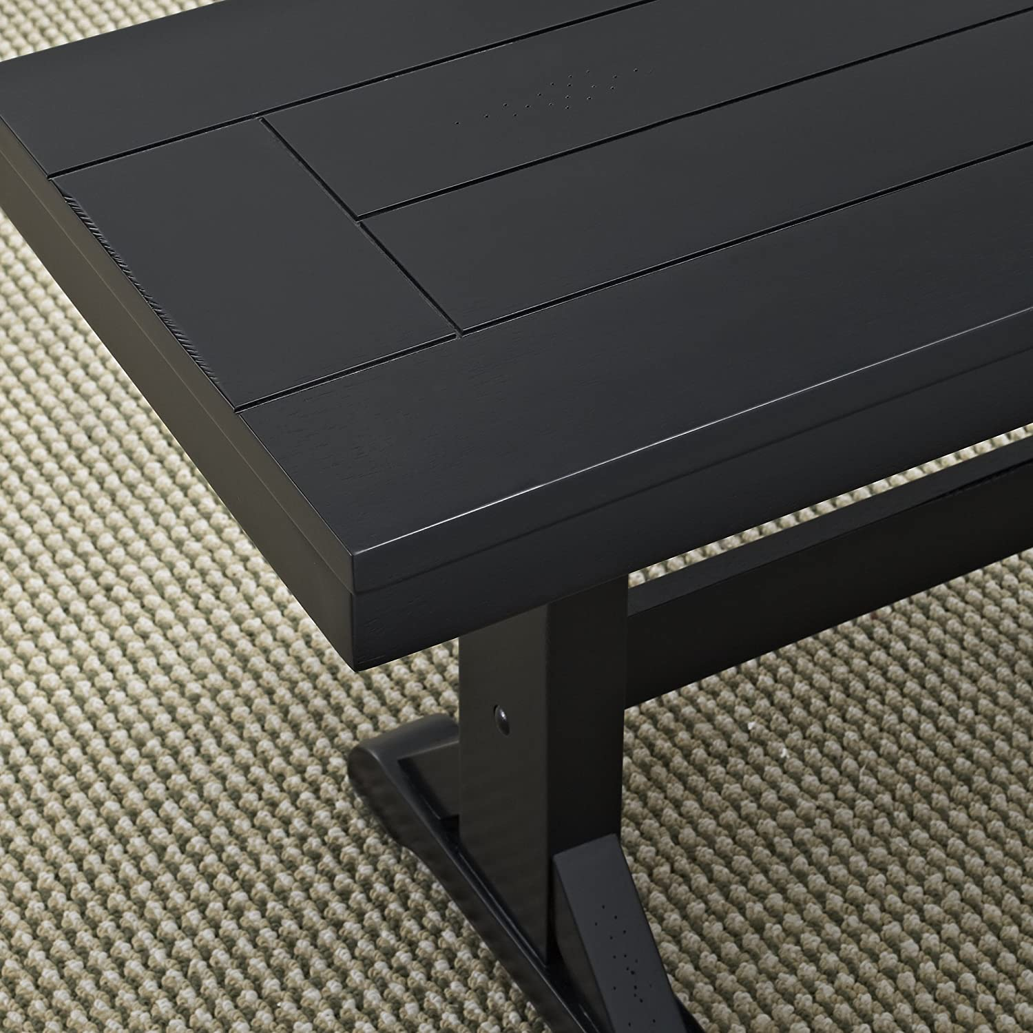 New 5 Foot Wide Solid Wood Dining Bench in Black Finish