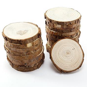 Surepromise 20 X Rund Holzscheiben Baumscheiben Namensschild