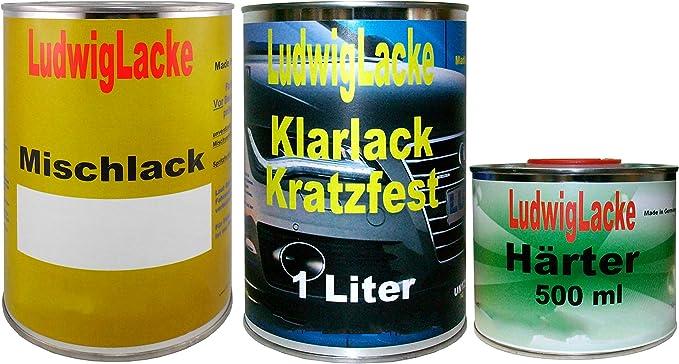 Ludwig Lacke 2 5 Liter Set Autolack Klarlack Härter Wunschfarbe Auch Metallic Für Mercedes Auto