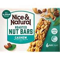 Nice & Natural Cashew Roasted Nut Bars with Real Milk Chocolate, 192g