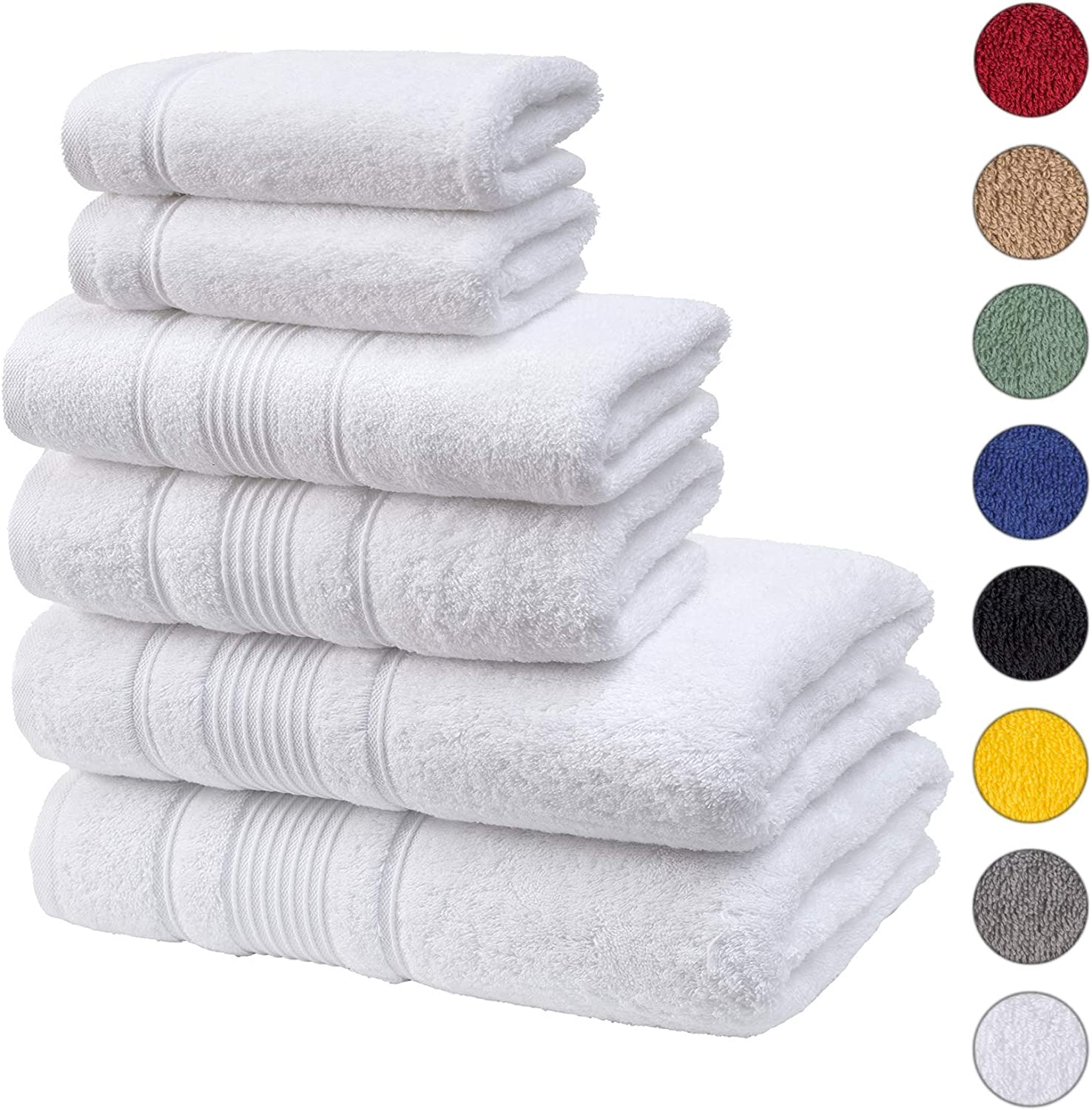 LUXURY 100/% COMBED COTTON 500 GSM TOWELS HOTEL QUALITY HAND BATH TOWEL PACK OF 2
