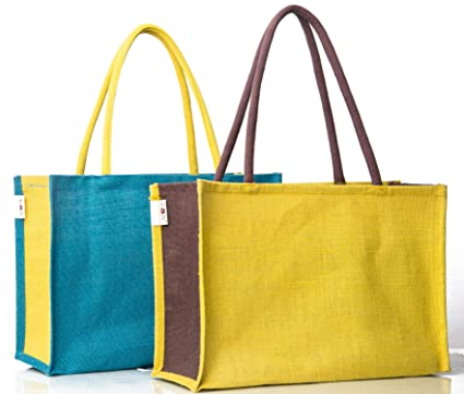 b4c922d82 H B Jute Shopping Bag - Designer Tote Bag