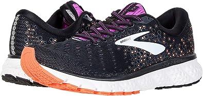 98c538caf5c03 Brooks Women s Glycerin 17 Black Fiery Coral Purple 5 ...