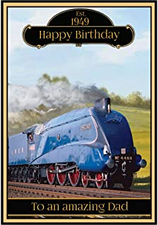 Steam train personalised birthday card amazon office products personalised steam train birthday card 2 designs the mallard bookmarktalkfo Image collections