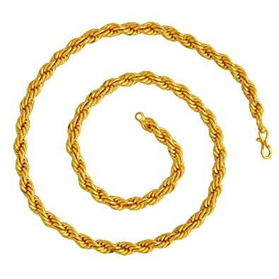 Buy Dzine Trendz 1 Micron Real Gold Plated Brass 7mm 64gms Super