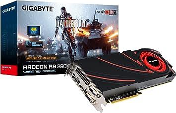 Amazon.com: Gigabyte R9 290 X 4 GB GDDR5 Tarjeta Gráfica (2 ...