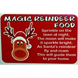 48 magic reindeer christmas food stickers labels mixed colours