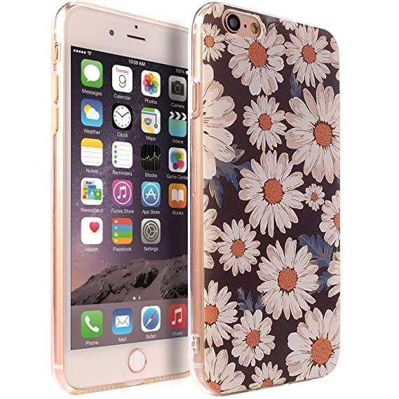 new york 612ac 13ff2 Iphone 6 plus case,iphone 6S Plus case sxxissky [Embossment Series] Floral  PatternSlim Cover with[Tempered Glass Screen Protector&Crystal Lanyard] ...