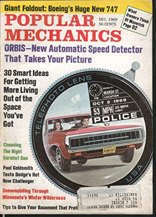 POPULAR MECHANICS Orbis Speed Detector Dodge Challenger Paul Goldsmith 12 1969 at Amazons Entertainment Collectibles Store