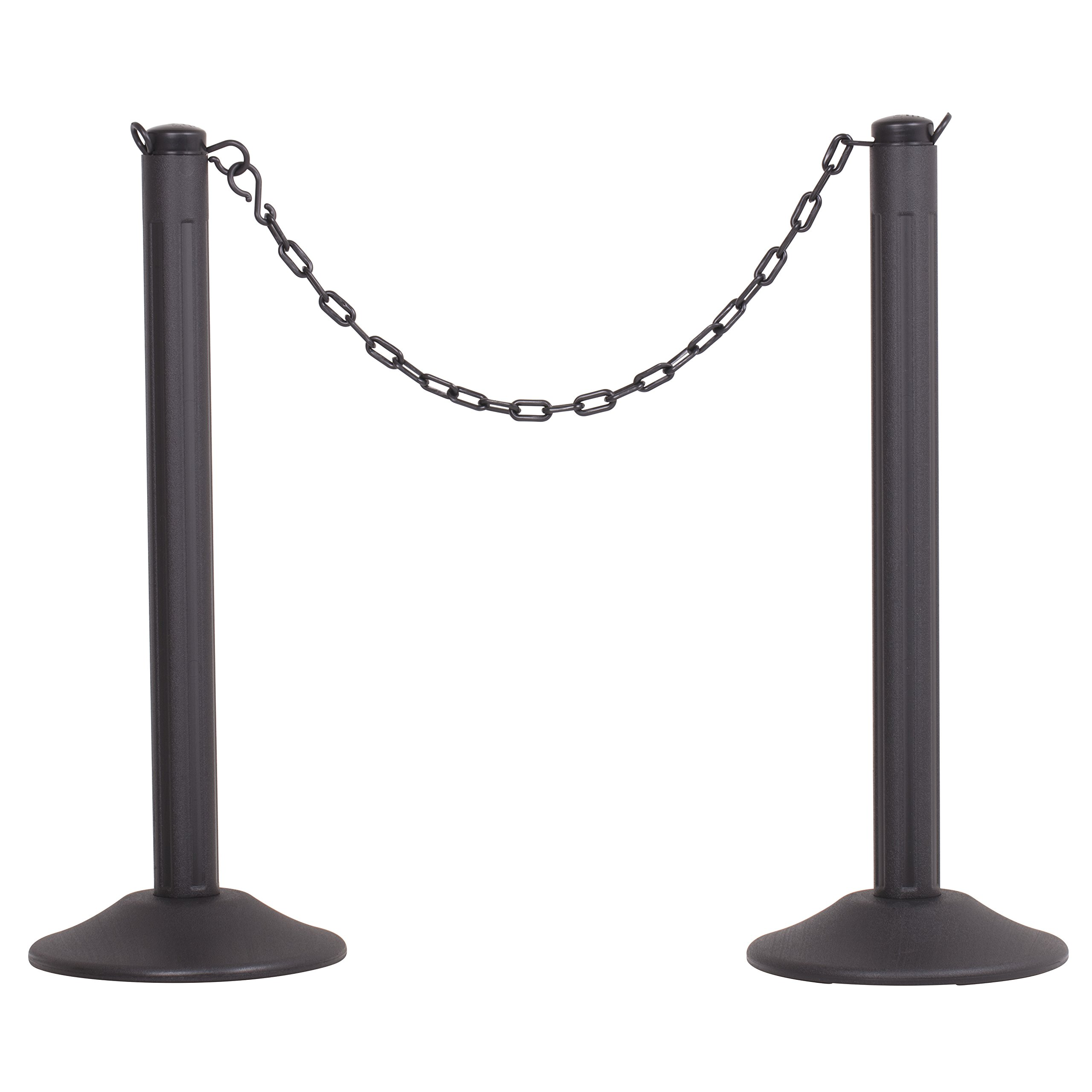 US Weight ChainBoss Indoor/Outdoor Stanchion – Weighted Base – Black Chain