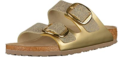 23fc00ed7d71 Birkenstock Arizona Big Buckle Leather Narrow Ceramic Pattern Blue Size EU  36 - US L5
