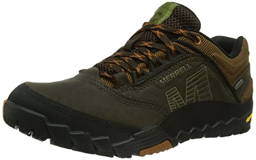 KW3ZH0ML Women Dark Earth Merrell Annex Gore tex Mens Track Field Shoes Sale Price