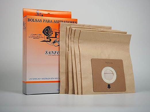 Sanfor 64080 Caja Bolsa aspirador SOLAC R-SO917-919 6 unidades ...