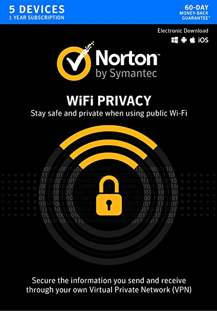 Norton WiFi Privacy – Secure VPN – Up to 5 Devices [Key Card]