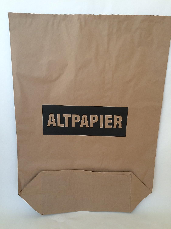 mit extra Bodendeckblatt 25 St 2lagig Papier-Bioabfalls/äcke 120l Format 70x95x22 cm Motiv: Altpapier